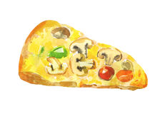 Pizza with mushrooms Royalty Free Stock Photography