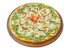 Pizza with mushrooms Stock Photography