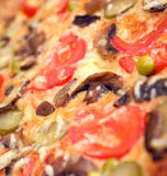 Pizza mushrooms and vegetable Royalty Free Stock Photos
