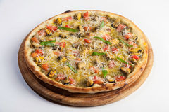 Pizza with mussels Stock Photos