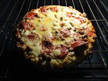 A pizza from my oven Stock Image