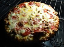 A pizza from my oven Royalty Free Stock Photo