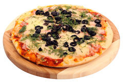 Pizza na bielu zdjęcia stock