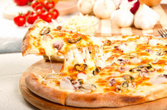 Owoce morza pizza Zdjęcie Stock
