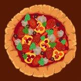 Pizza napoletana di vettore Fotografie Stock