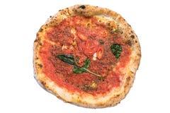 Pizza napoletana isolated on white background Stock Photo