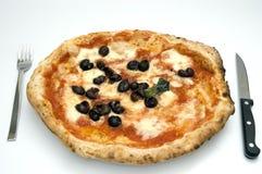 PIZZA NAPOLETANA ORIGINALE Immagini Stock