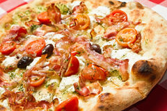 Pizza Napoli Stock Photo