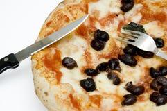 Pizza napolitana original Foto de archivo libre de regalías