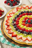 Pizza naturelle faite maison de fruit Image libre de droits