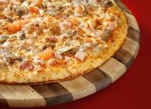 Pizza neat's tongue Stock Image