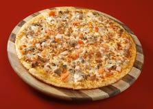 Pizza neat's tongue Stock Photography