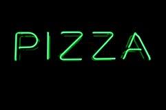 pizza neonowy znak Zdjęcia Royalty Free