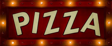 Pizza-Neonzeichen Lizenzfreies Stockfoto