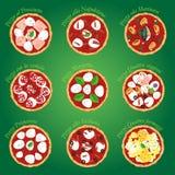 Pizza neun lizenzfreie abbildung