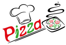 Pizza, nourriture italienne Image stock