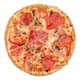 Pizza od wierzchołka Fotografia Stock