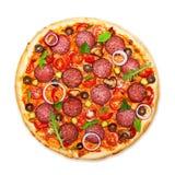 Pizza odizolowywająca obraz stock