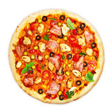 Pizza odizolowywająca zdjęcie stock