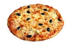 pizza odosobniony biel fotografia stock