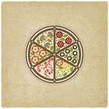 Pizza old background Stock Image