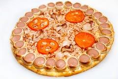 Pizza, olika sorter av pizza till menyn av restaurangen och pizzeria Royaltyfria Bilder