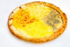 Pizza, olika sorter av pizza till menyn av restaurangen och pizzeria Arkivfoto