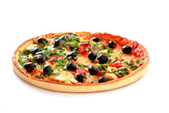 Pizza with olives Stock Image