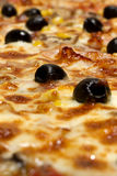 Pizza and olives Royalty Free Stock Image