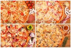 Pizza op de lijst Stock Afbeelding