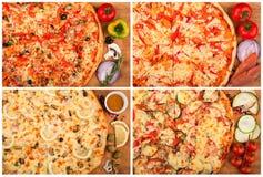 Pizza op de lijst Stock Afbeeldingen