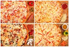 Pizza op de lijst Royalty-vrije Stock Afbeeldingen