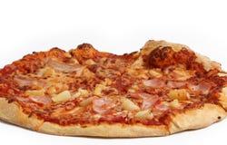Pizza op een Witte Achtergrond 2 Royalty-vrije Stock Fotografie