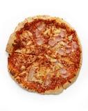 Pizza op een Witte Achtergrond 3 Royalty-vrije Stock Foto