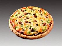Pizza op grijs royalty-vrije stock foto