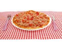 Pizza op lijst Royalty-vrije Stock Fotografie