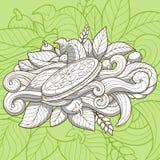 Pizza ornamentu projekta ręka rysujący wektor ilustracja wektor