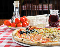 Pizza and other additives Stock Photo