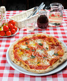 Pizza and other additives Royalty Free Stock Image