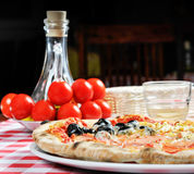 Pizza and other additives Stock Images