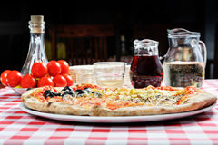Pizza and other additives Stock Photography
