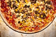 Pizza from the oven Royalty Free Stock Photos