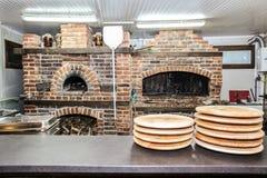 Pizza oven. Brick royalty free stock photo