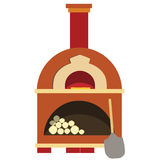 Pizza oven. Brick oven, isolated on white  pizzeria Stock Images