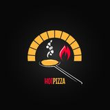 Pizza oven design background Royalty Free Stock Photography