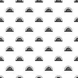 Pizza oven with fire pattern vector. Pizza oven with fire pattern seamless in simple style vector illustration Royalty Free Stock Image