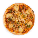 Pizza over a white Royalty Free Stock Images