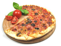 Pizza overview Royalty Free Stock Image