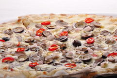 Pizza owoce morza obrazy royalty free
