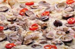 Pizza owoce morza obraz royalty free